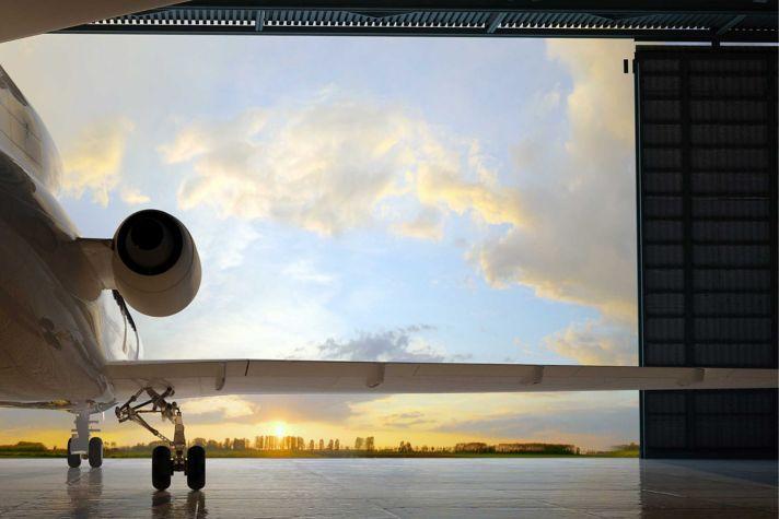 Plane in Hangar Fujitsu