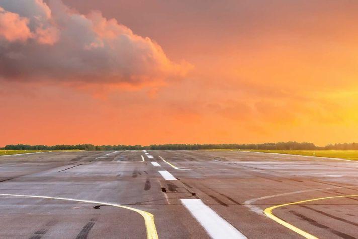 Twilight runway