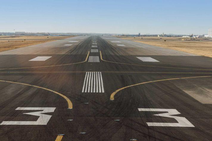Empty runway