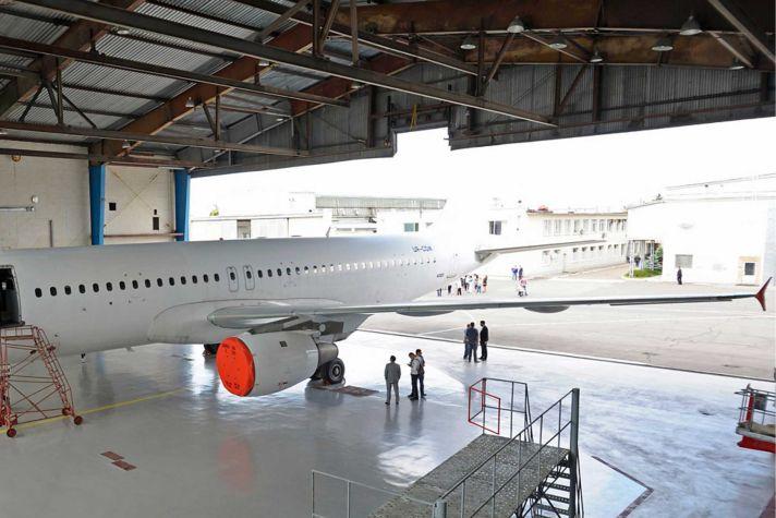Plane in Hangar Editorial