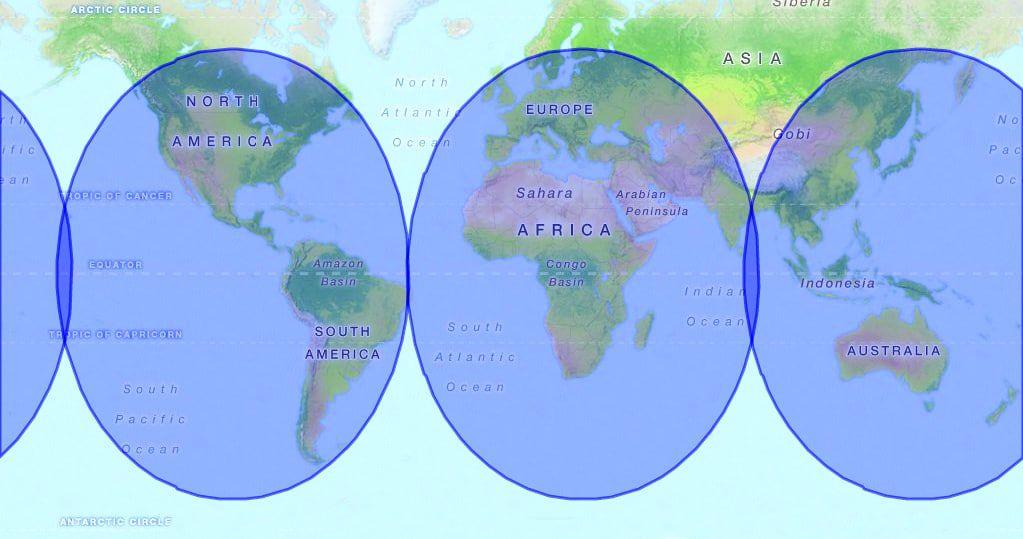 AeroWave Coverage Map
