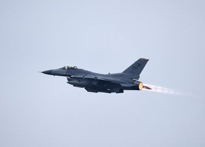 An F-16 taking off at Kunsan Air Base. Source: www.kunsan.af.mil