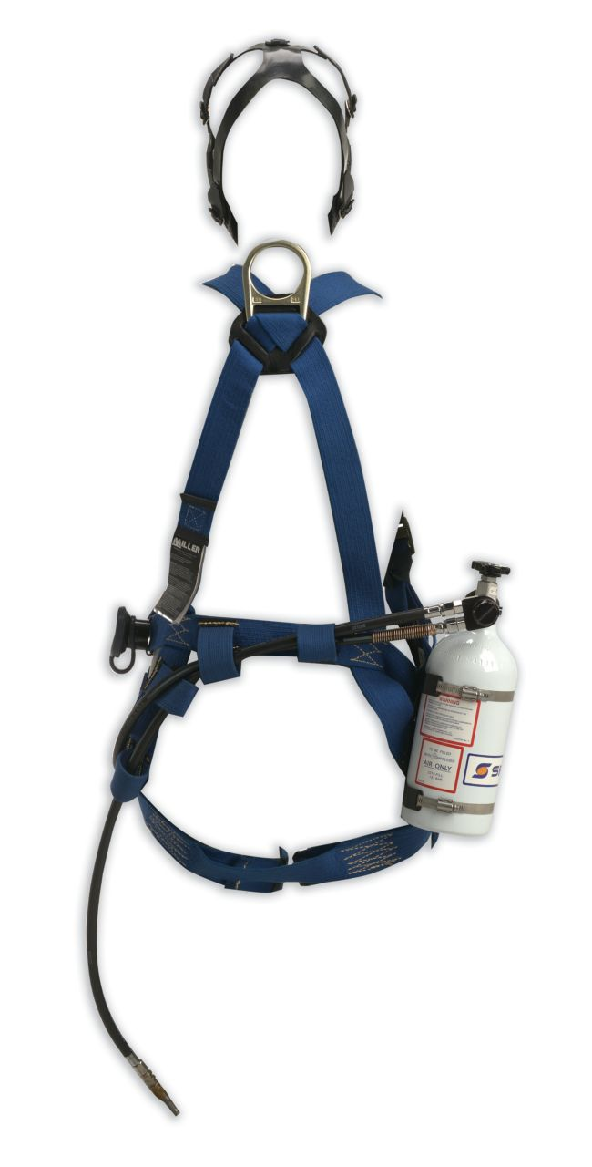 Pressure Demand SAR with Escape Cylinder and Class 3 Miller Fall Protection Harness (NIOSH)_2