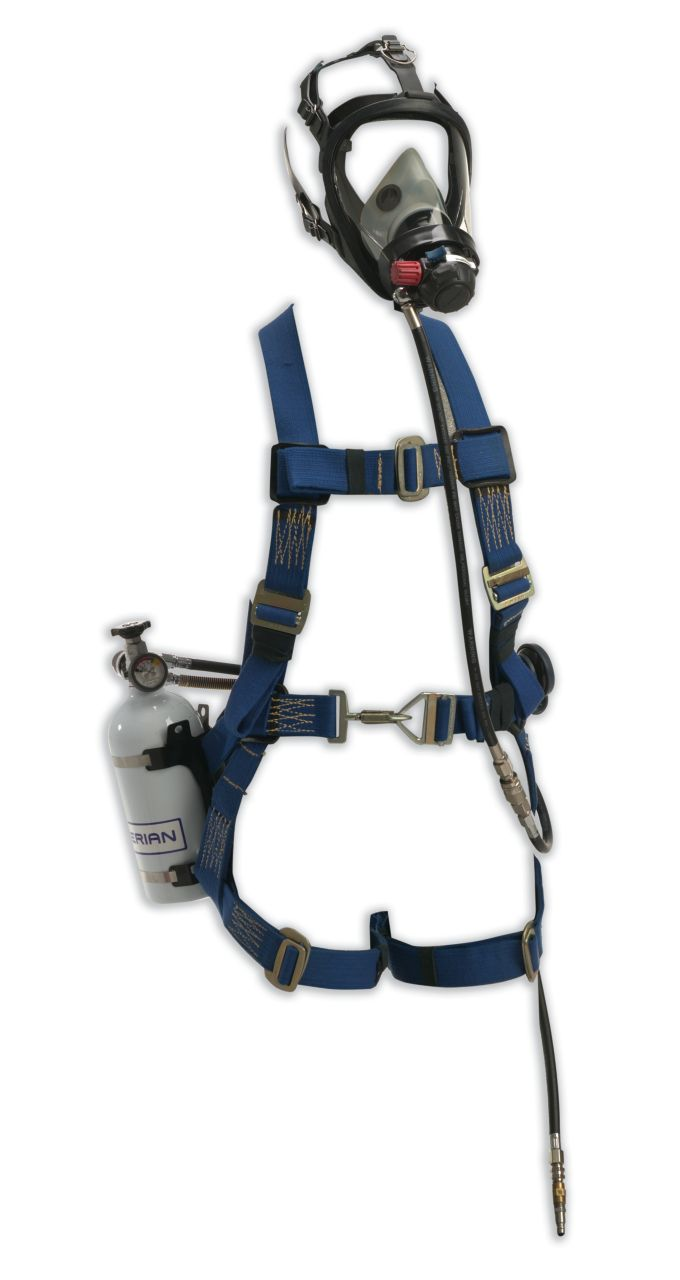 Pressure Demand SAR with Escape Cylinder and Class 3 Miller Fall Protection Harness (NIOSH)_1