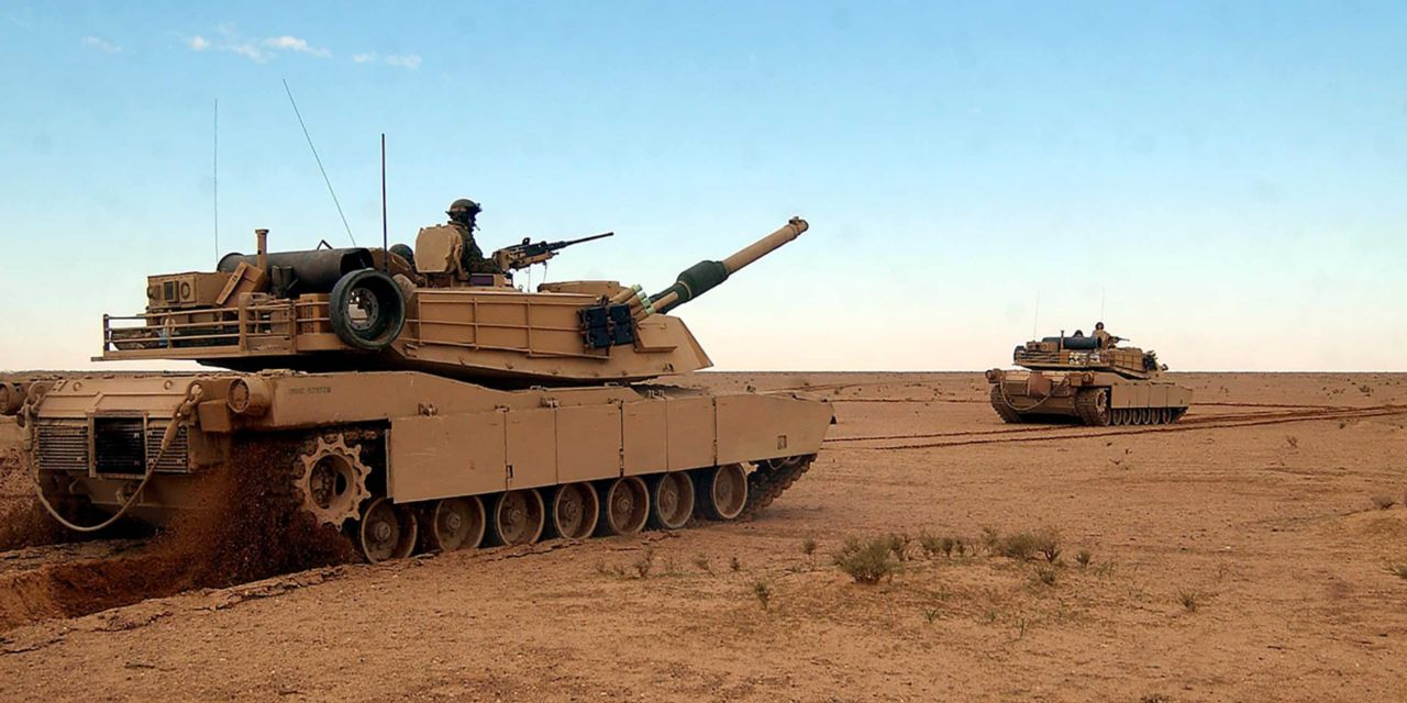 Two tanks in the desert