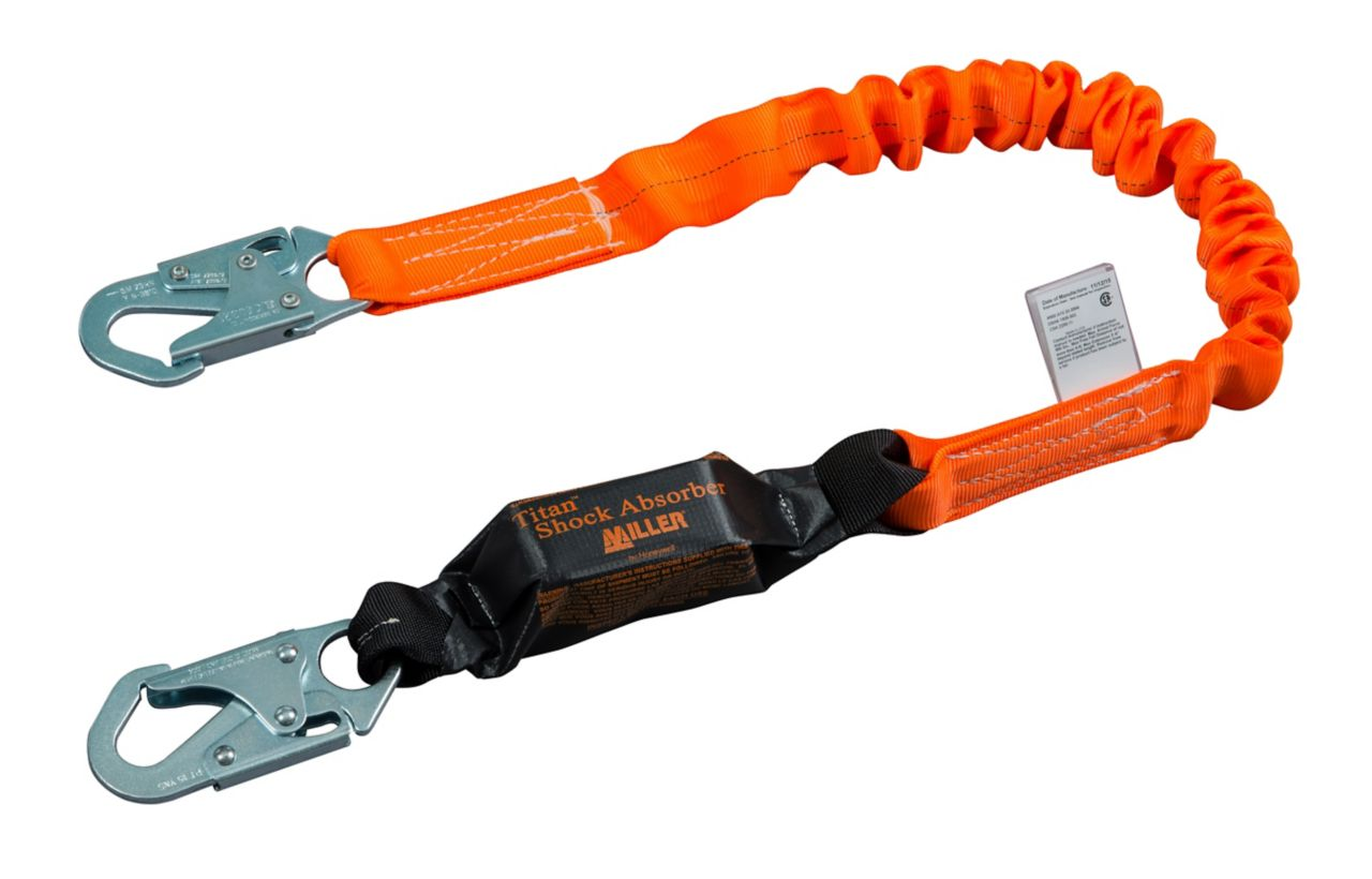 Miller Titan™ II Stretch Pack-Type Shock-Absorbing Lanyards