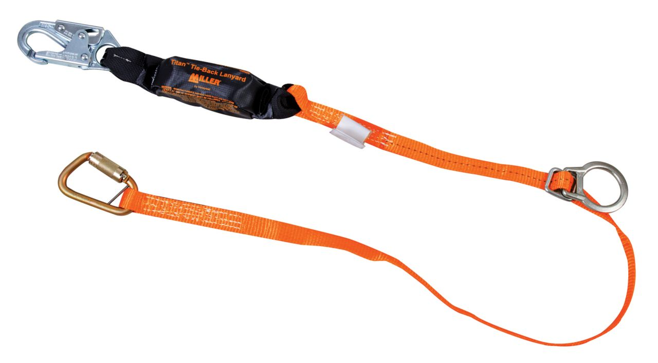 Miller Titan™ II Tie-Back Lanyards with Pack-Type Shock Absorbers