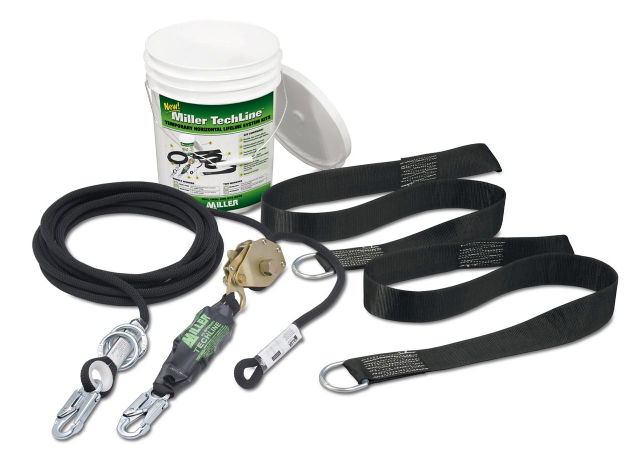 Miller TechLine™ Temporary Horizontal Rope Lifeline System Kits