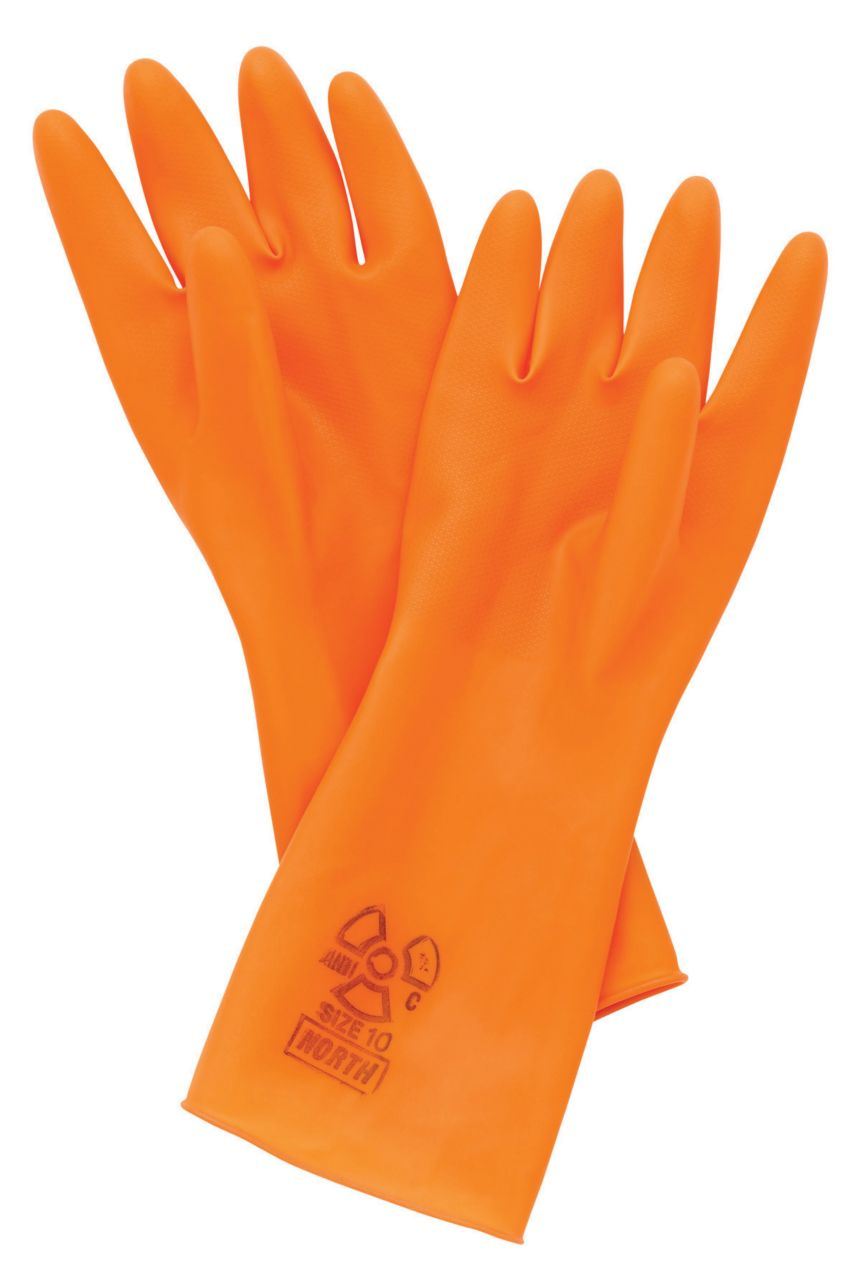 Anti C- Unsupported Natural Rubber Gloves