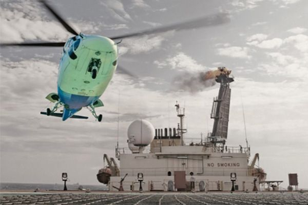 Forecast Helicopter Oil Rig
