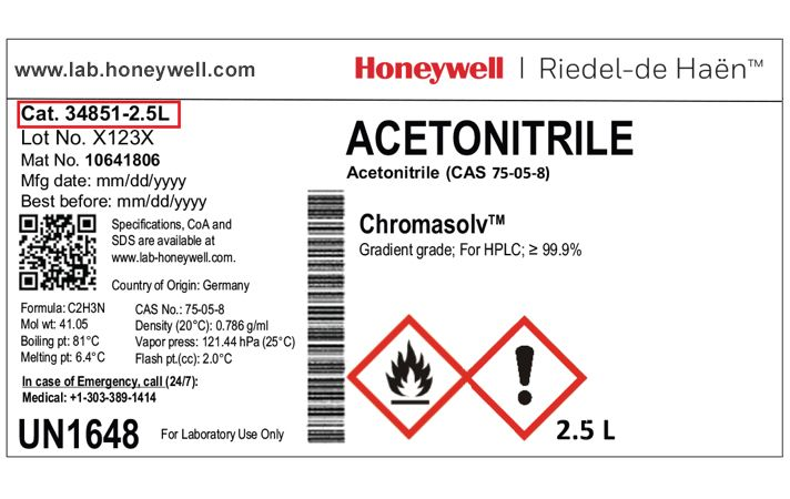 Safety Data Sheets Honeywell Research Chemicals