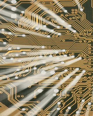 Electronic golden circuit board with shine