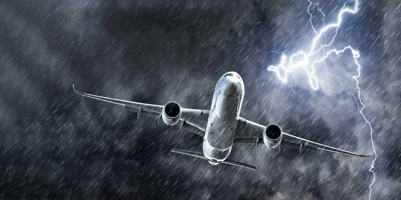 Airliner in a storm