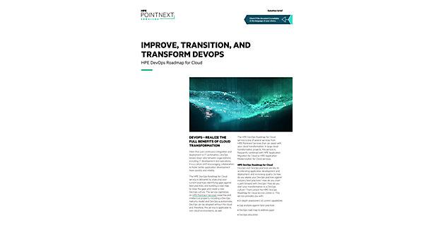 HPE DevOps Roadmap for Cloud solution brief (Solution brief