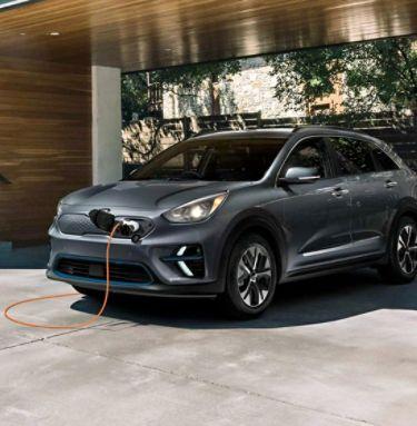 2021 Kia Niro EV Charging With A Home Charging Station