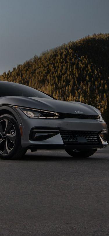 2022 Kia EV6 Electric Car Parked Three-Quarter View