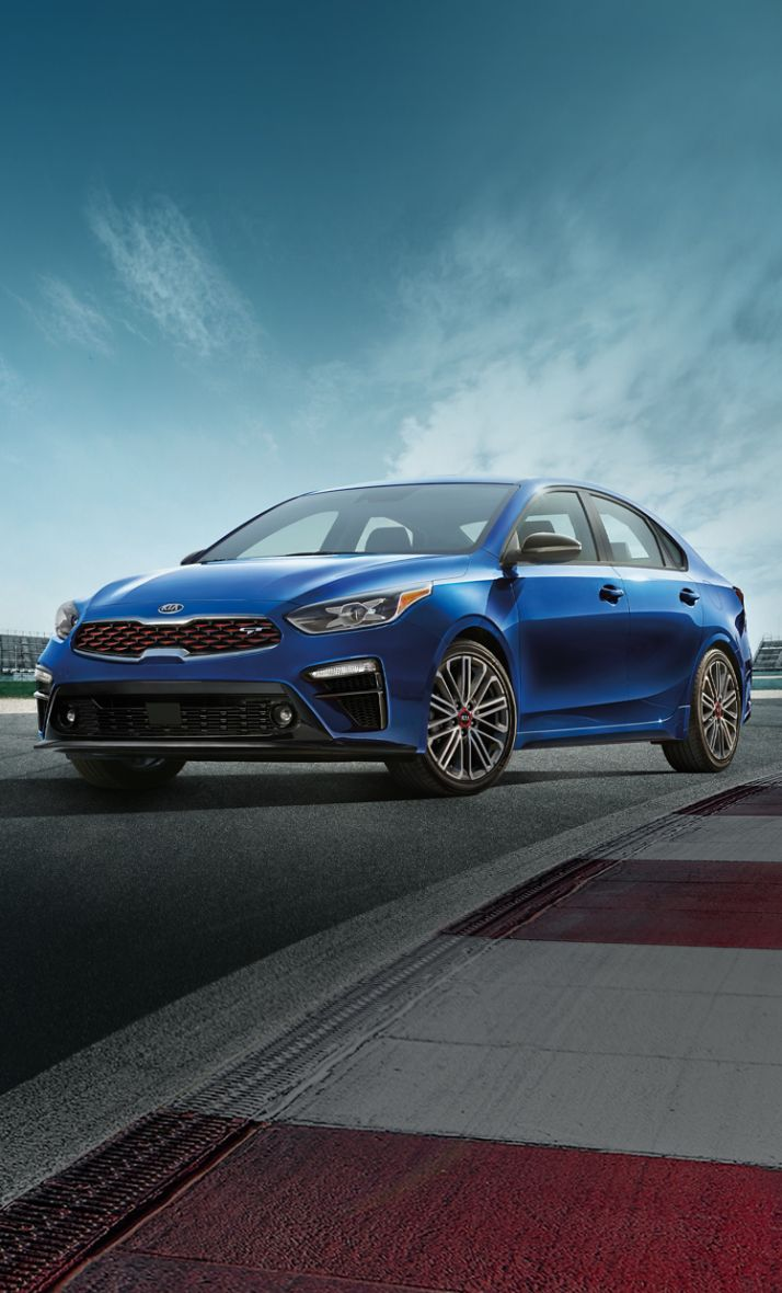 2021 Kia Forte On A Race Track