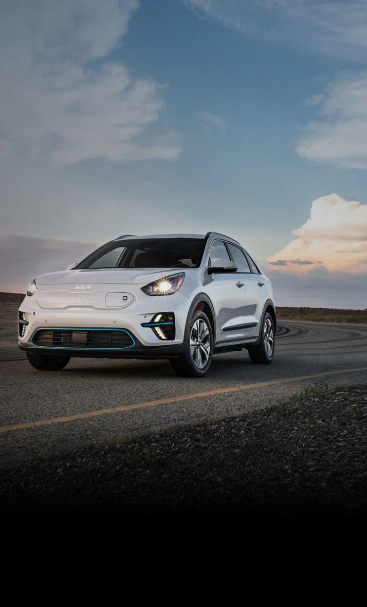 2022 Kia Niro EV Driving On An Open Road Three-Quarter View