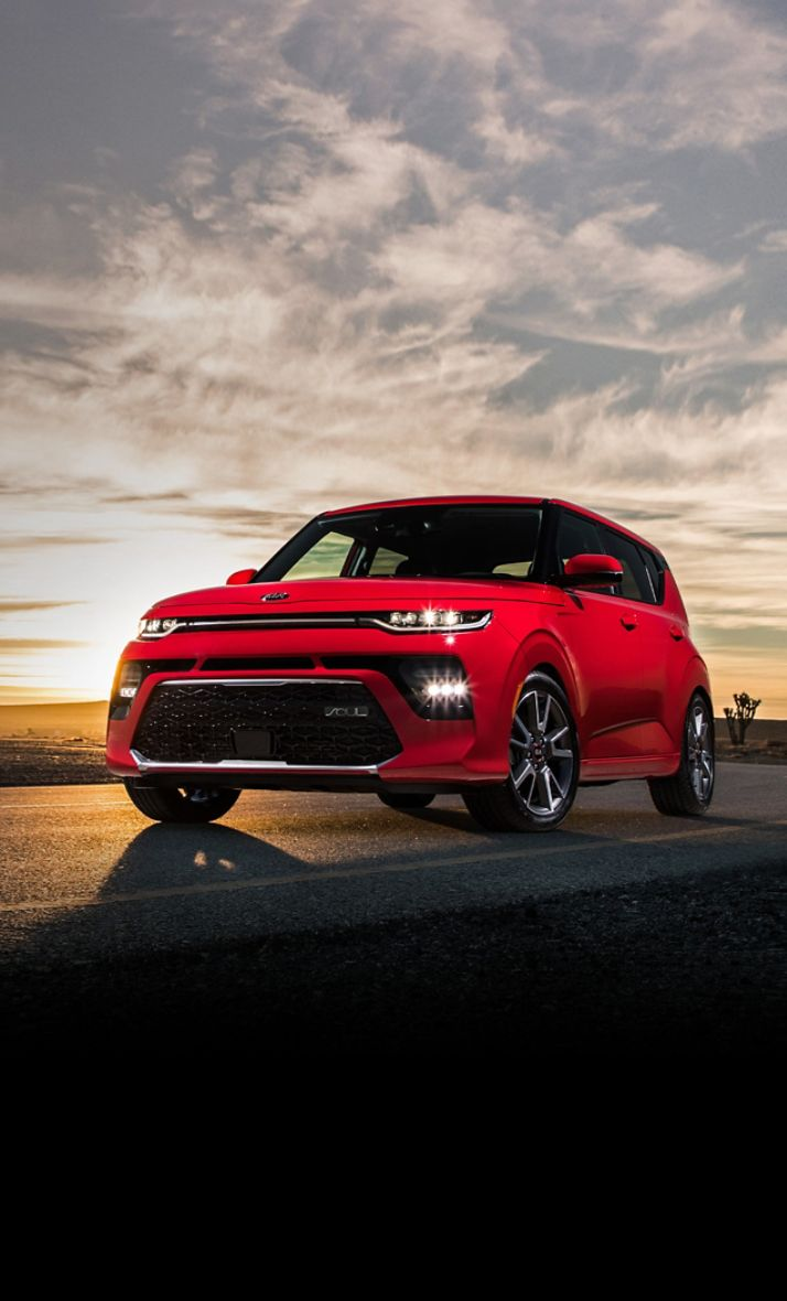 2021 Kia Soul Driving At Sunset In The Desert