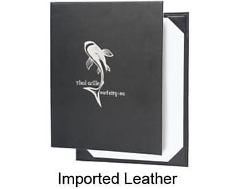 Single Pocket Imported Leather Menu Cover, 8½x11
