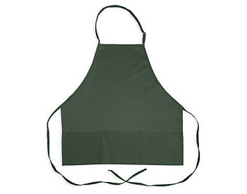 3 Pocket Adjustable Bib Apron, Poly/Cotton, 27 inch, Clearance