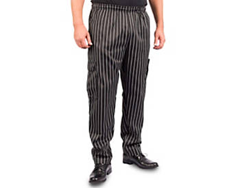 Chalk Stripe Cargo Style Chef Pant