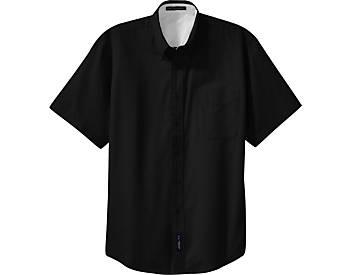 Mens Wrinkle Resistant Dress Shirt, Short Sleeve