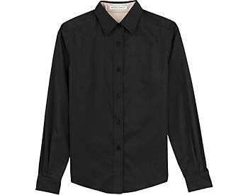 Womens Wrinkle Resistant Dress Shirt, Long Sleeve