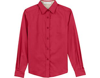 Womens Wrinkle Resistant Dress Shirt, Long Sleeve