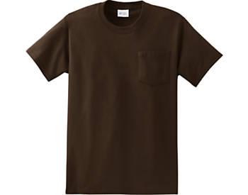 Heavyweight Unisex T Shirt with Pocket, 6.1oz