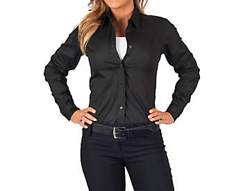 Womens Teflon Dress Shirt, Long Sleeve, Clearance