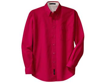 Mens Wrinkle Resistant Dress Shirt, Long Sleeve, Tall Sizes
