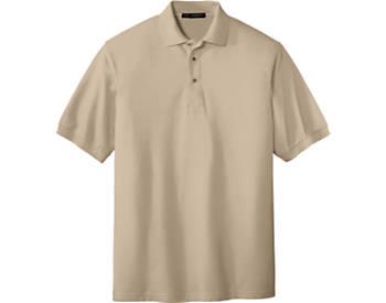 Mens Soft Touch Pique Sport Shirt, Short Sleeve