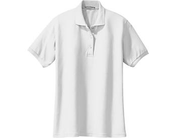 Womens Soft Touch Pique Sport Shirt, Short Sleeve