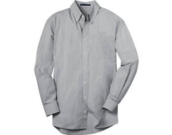 Mens Plaid Pattern Easy Care Dress  Shirt