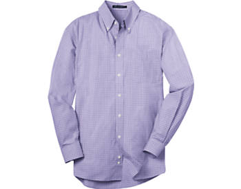 Mens Plaid Pattern Easy Care Dress  Shirt