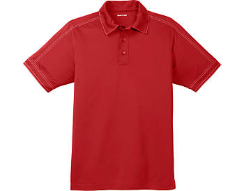 Mens Contrast Stitch Micropique Polo