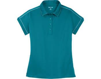 Womens Contrast Stitch Micropique Polo