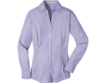 Womens Port Authority Plaid Pattern Easy Care Shirt