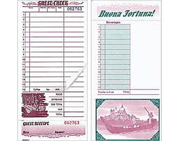 "Two-Part, Italian, 4 ¼"" by 9"", Guest Checks (520)"