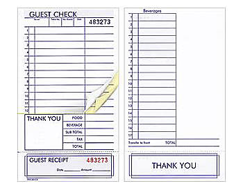 Three Part Guest Checks