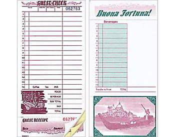 "Three-Part, Italian, 4 ¼"" by 9"", Guest Checks (525)"