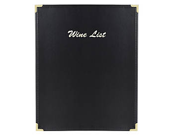 Single View Flexible Leatherette Menu Cover