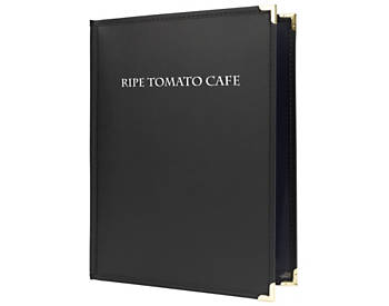 Double View Flexible Leatherette Menu Cover