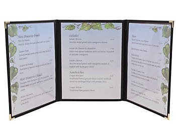 Tri-fold Flexible Leatherette Menu Cover