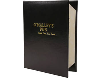 Quick Ship Double Pocket Deluxe Casebound Menu Cover