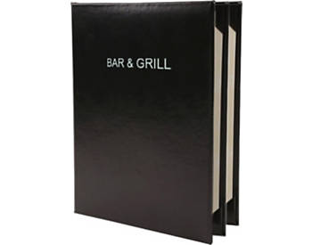 Quick Ship 4 View Deluxe Casebound Menu Cover