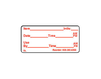 "1"" x 2"" Dissolvable Food Safety Labels"