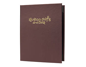 Double Pocket Premium Casebound Menu