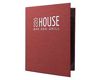 Heavy Duty Casebound Menu Covers